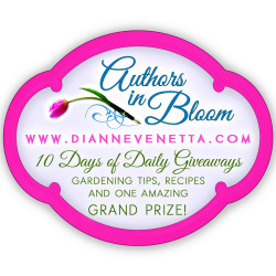 Dianne Venetta_AIB Logo_2015, gardening tip, 2017 authors bloom blog hop