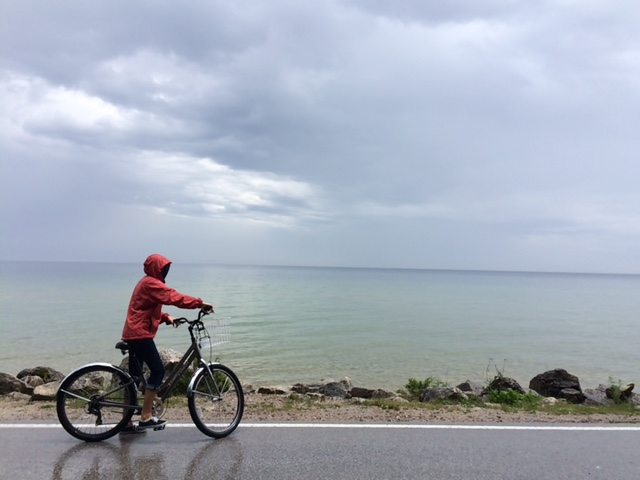 rainy day on Mackinac