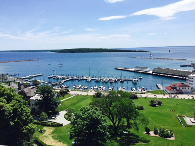 view from Mackinac Fort